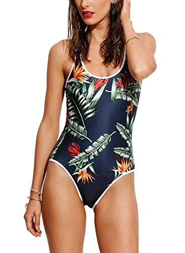 Printed One piece Swimsuit Swimwear Monokini