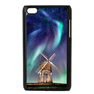 The Aurora Borealis DIY Cover Case with Hard Shell Protection for Ipod Touch 4 Case lxa#380918