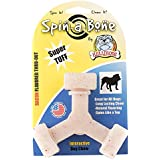 Nylon Dog Chew Toy - Bullibone Spin-a-Bone- Bacon Flavor - Interactive Dog Toy, Triggers Natural Instincts, and Improves Oral Health