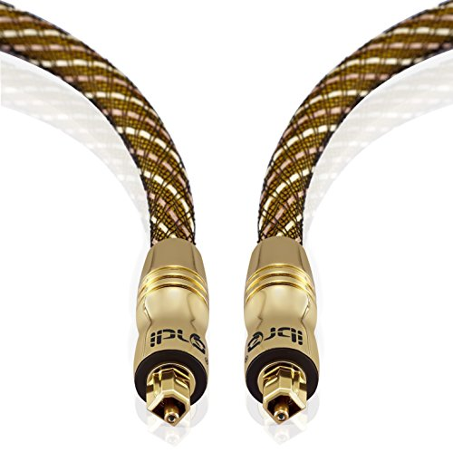 IBRA 2M Master Gold Optical TOSLINK Digital Audio Cable - Suitable for PS3, Sky, Sky HD, LCD, LED, Plasma, Blu-ray, Home Cinema Systems, AV Amps