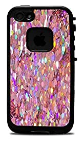 Holographic Pink Sequins Vinyl Decal Sticker for iPhone 4/4S Lifeproof Case