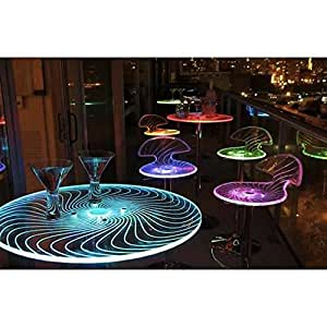 Amazon.com - Modern LED Light-up Tall Bar Table - Tables