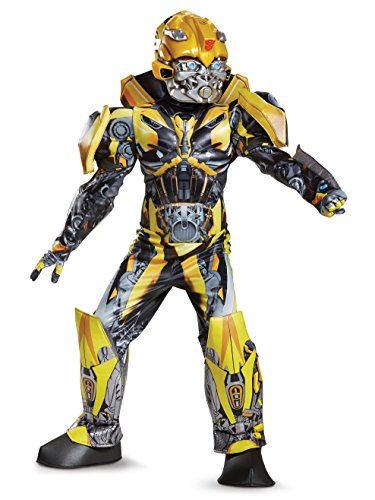 Disguise Bumblebee Movie Prestige Costume, Yellow, Medium (7-8)]()