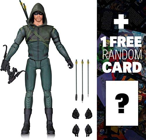 "Arrow [Season 3]: ~6.75"" Arrow x DC Collectibles DCTV Action Figure + 1 FREE Official DC Trading Card Bundle (33582)"
