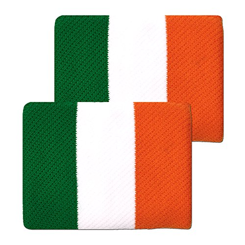 Unique Sports Ireland Flag 4-inch Wristbands