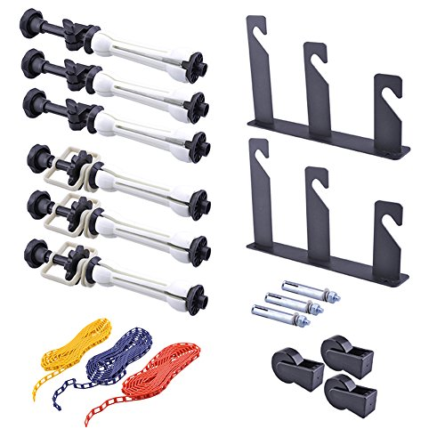 Neewer Photography 3 Roller Wall Mounting Manual Background Support System, including Two(2) Tri-fold hooks, Six(6) Expand bars, Three(3) Chains (Multiple Background Stand)