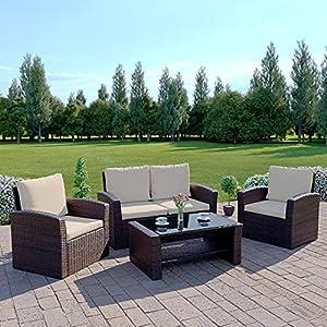 Algarve 2+1 Rattan Garden Furniture Sofa Set
