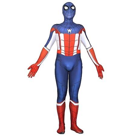 QQWE Capitán América Spider-Man Cosplay Traje Traje Spandex ...