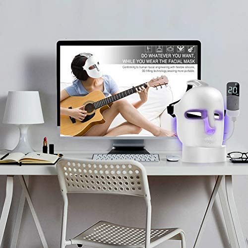 NEWKEY Led Light Therapy Facial Mask - Uses Newest Red / Blue / Yellow Light Therapy For Skin Rejuvenation | Whitening|Anti Aging | Smoothening Wrinkles | Weakening Scarring | Lighter Weight And More Comfortable by NEWKEY (Image #6)
