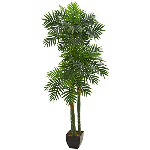 (Nearly Natural 5534 5.5' Triple Areca Palm Tree Artificial Plant,)
