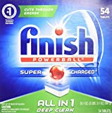 Finish All in 1 Powerball, 54ct, Fresh Dishwasher Detergent Tablets