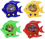 Handheld Water Ring Games ~ Fish Theme ~ Approx. 5'' ~ New ~ Fish Water Toy, Sea Life Party Favors (Pack of 12)
