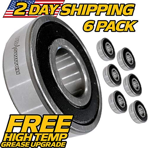 (6 Pack) Bearing Snapper, Simplicity Allis 7013313, 7013313SM, 2108202SM, 1-3313 - HD Switch (Alis Tractor)