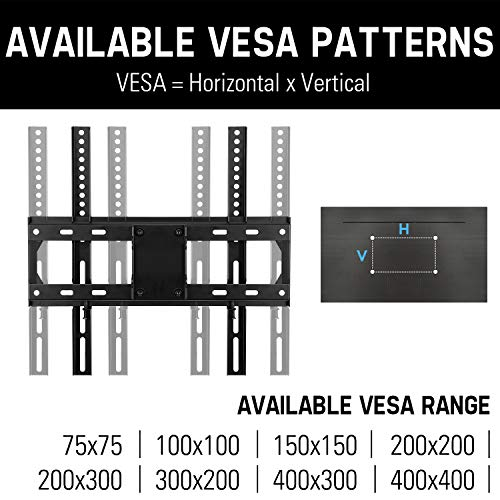 "Mounting Dream TV Wall Mount Full Motion for 26-55 Inch TVs with 19.3"" Extension, TV Mount with Articulating Arm up to 60LBS VESA 400x400mm - Easy Single Stud Install"