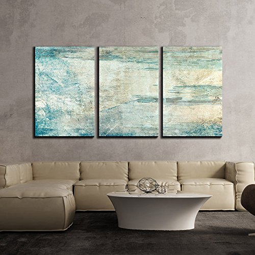 wall26 3 Piece Canvas Wall Art - Abstract Grunge Artwork - Modern Home Decor Stretched and Framed Ready to Hang - 16