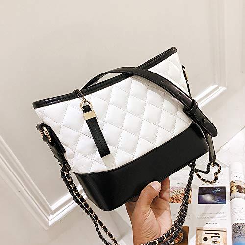 rhombique Mode bandoulière Sac épaule Chaine Unique Sac Petit Sac Parfum Sac blanche Trompette à féminin WSLMHH Besace Ew0qX4q