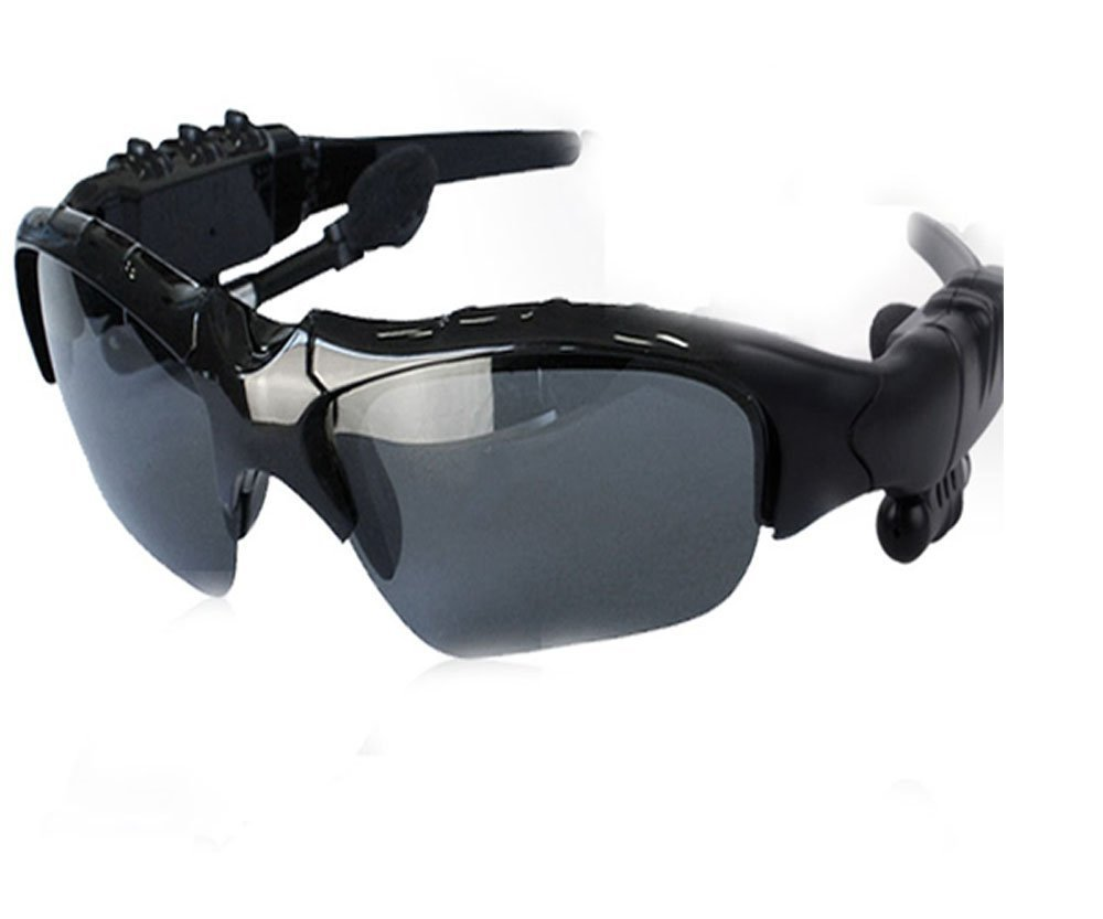 KinStore Sport Wireless Bluetooth Smart Sunglasses Headphone (Black) by KinStore