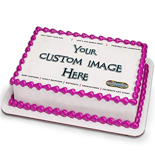 Custom Frosting Sheet for 1/2 Sheet Cake by Tasty Imaginations - Customized Cake -