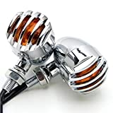 Cheap Candance(TM)Matte Chrome Grill Grille Aluminum Bullet Amber Turn Signal Indicator Blinker Light For Harley Sportster Dyna Glide Custom Bobber Chopper Cruiser,Motorcycle,Custom Bike,Cafe Racer, Harley,Honda/Kawasaki,BMW,Yamaha,Suzuki,Ducati,Benelli,Aprilia,KTM/Motorcycle Indicators Blinkers Lights