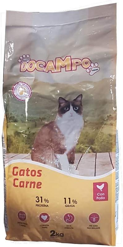 DOCAMPO Saco de pienso 2 Kg Comida para Gatos Sabor Carne