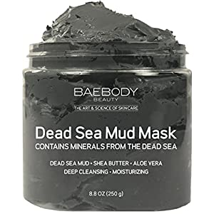 Dead Sea Mud Mask Best for Facial Treatment, Acne, Oily Skin & Blackheads – Minimizes Pores, Reduces Look of Wrinkles, and Improves Overall Complexion. Natural-Minerals From The Dead Sea 8.8 oz