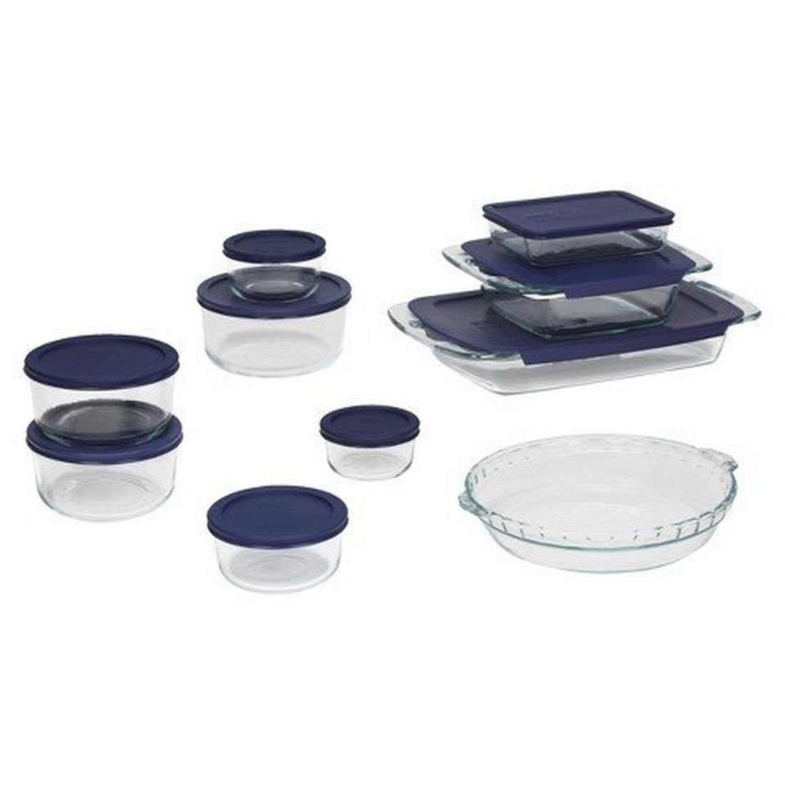 Pyrex 19 Piece Bake and Store Set - Clear 070-02-0083