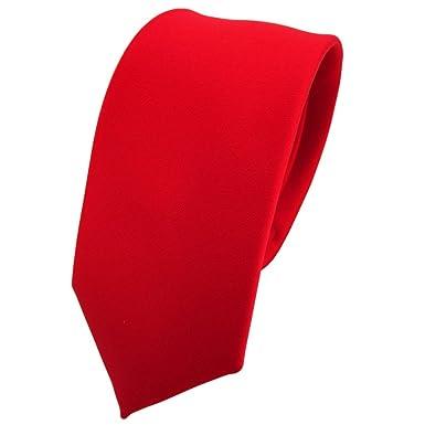 TigerTie - corbata estrecha - rojo rojo-tráfico roja-brillante ...