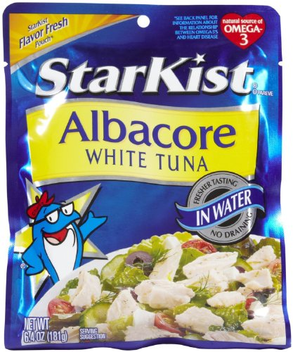 Starkist Albacore White Tuna in Water Pouch 6.4 Oz (Pack of 4) (Starkist Albacore)