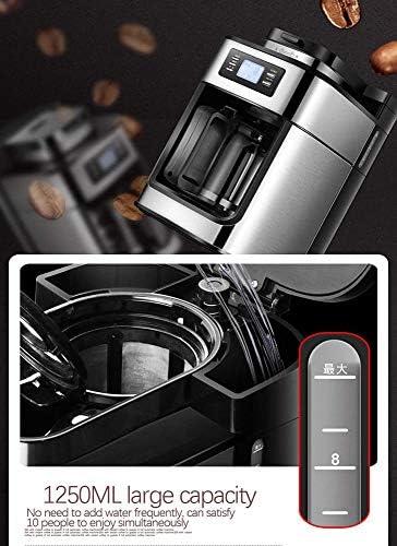 Machine à Café Automatique, Broyeur à Grains Expresso, avec Pot à Cafetière Ecran LED, Machine Multi-Boissons Machine à café goutte à goutte