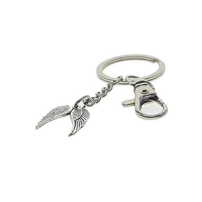 Jastbby Llavero con alas de ángel, colgante de alas de ángel ...