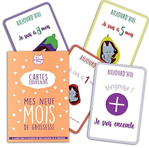 Mes 9 Mois de Grossesse - 15 cartes souvenirs/cartes é tapes pour se souvenir des mois magiques de sa grossesse