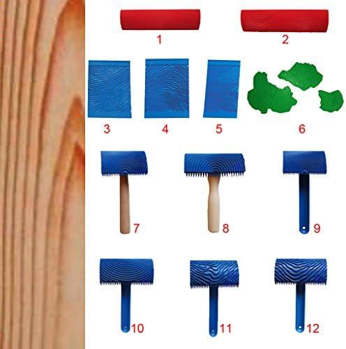 F Fityle 木目装飾アクセサリーの2個のゴム塗装ツールモデル
