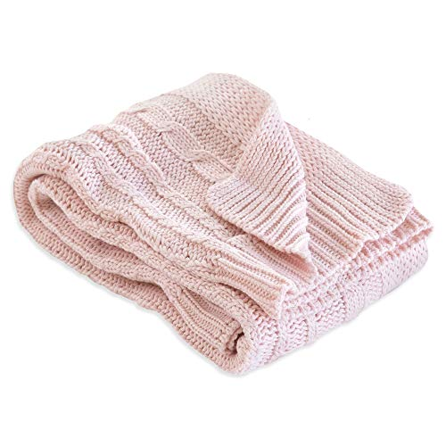 (Burt's Bees Baby - Cable Knit Blanket, Baby Nursery & Stroller Blanket, 100% Organic Cotton, 30