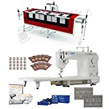 Juki TL-2010Q 9' Long-arm Machine, Grace SR-2+ Quilting Frame, SureStitch Regulator, Pattern Templates, 100 Needles, 20 Bobbins, Extension Table & QuiltCAD Pattern Design Software