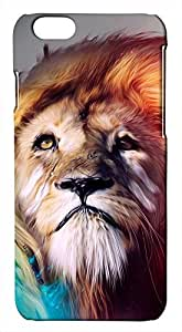 Generic 3D Colorful Lion King Abstract Art Hard Case for iPhone 6