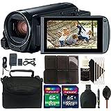 Canon VIXIA HF R800 HD Camcorder (Black) + 24GB Memory Card + Accessory Kit