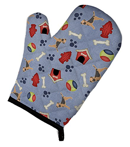 "Caroline's Treasures BB4052OVMT Dog House Collection Border Terrier Oven Mitt, 12"" by 8.5"", Multicolor"