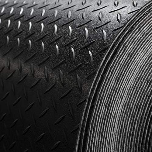 8 2 Wide Diamond Plate Pattern RV Flooring Black 20 Foot Section