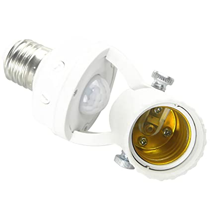 Sharplace Titular de Lámpara Infrarrojo Toma de Interruptor Sensor de Movimiento PIR Toma de Luz Casa