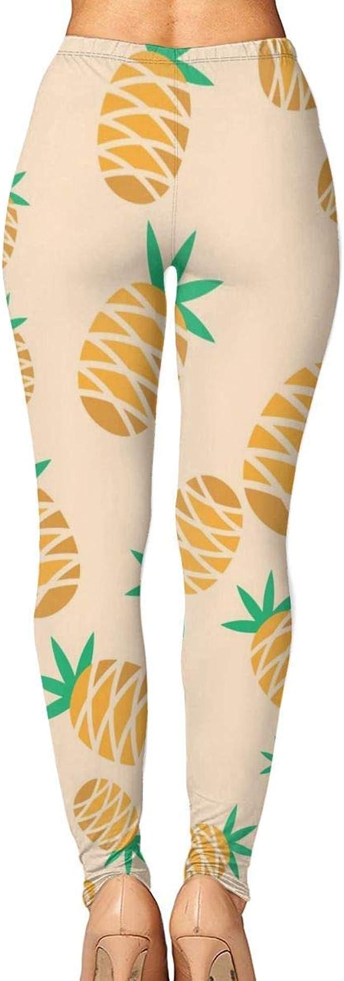 Leggings de Entrenamiento Deportivo con pantalón de Yoga Vector Pineapple Pattern Provide Women with High-Waisted, Leggings de Yoga para Gimnasio Ultra Suaves y livianos: Amazon.es: Ropa y accesorios