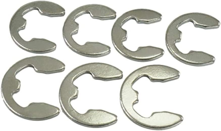 Inner Dia: M10 WSHR-33484 20PCS M7 M8 M9 M10 GB896 Stainless Steel Opening Retaining Ring E-Type Snap Ring
