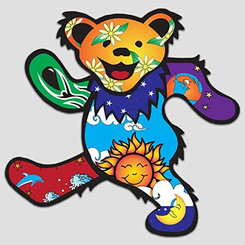 5 X 5 American Rock Band Decal GI Grateful Dead Dancing Bear Decal Sticker Vinyl Premium Quality