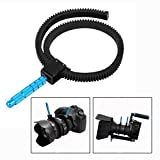 OFKPO Adjustable Follow Focus Gear Ring Camera Focusing Ring Zoom Ring With Aluminum Alloy Grip (Black And Blue)