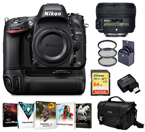 Nikon D610 DSLR Camera with 50mm f/1.8G Lens and Free Accessory Kit