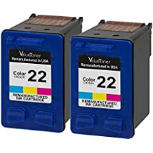 Valuetoner Remanufactured Ink Cartridge Replacement for Hewlett Packard HP 22 CC580FN C9352AN 2 Tri-Color 2 Pack for HP OFFICE 4315 1410,DESKJET F4180,F2210,D1420,F380,FAX 3180 1250,PSC 1401 Printer