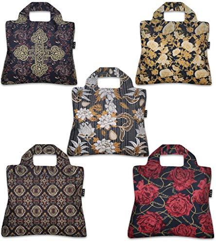 Envirosax RR.P Royal Rock Reusable Shopping Bags Set of 5 Multicolor ()
