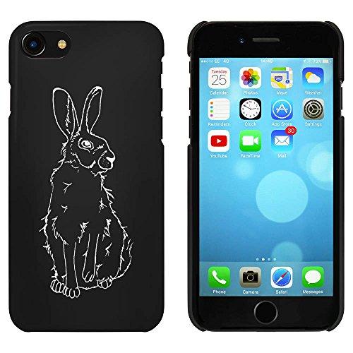 Noir 'Assis Lièvre' étui / housse pour iPhone 7 (MC00077525)