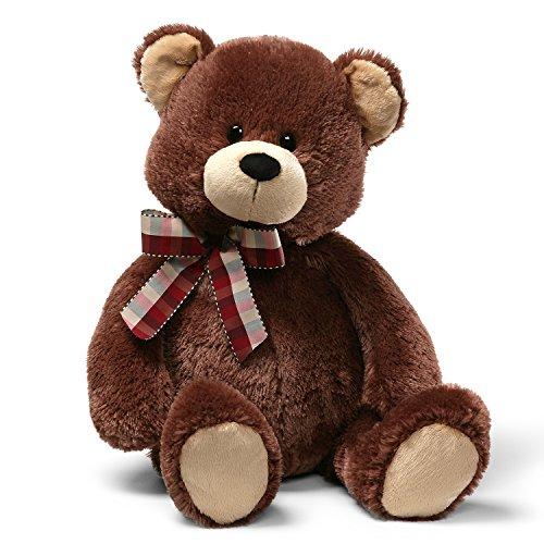 GUND TD Teddy Bear Stuffed Animal Plush, Chocolate Brown, 25