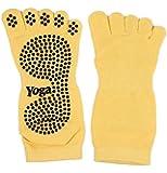 (ムジナ) mujina 5本指 滑り止め 付き ソックス ソリッドカラー 足裏 すべり止め 靴下 蒸れない 滑らない スポーツ ヨガ に最適 7色 フリーサイズ