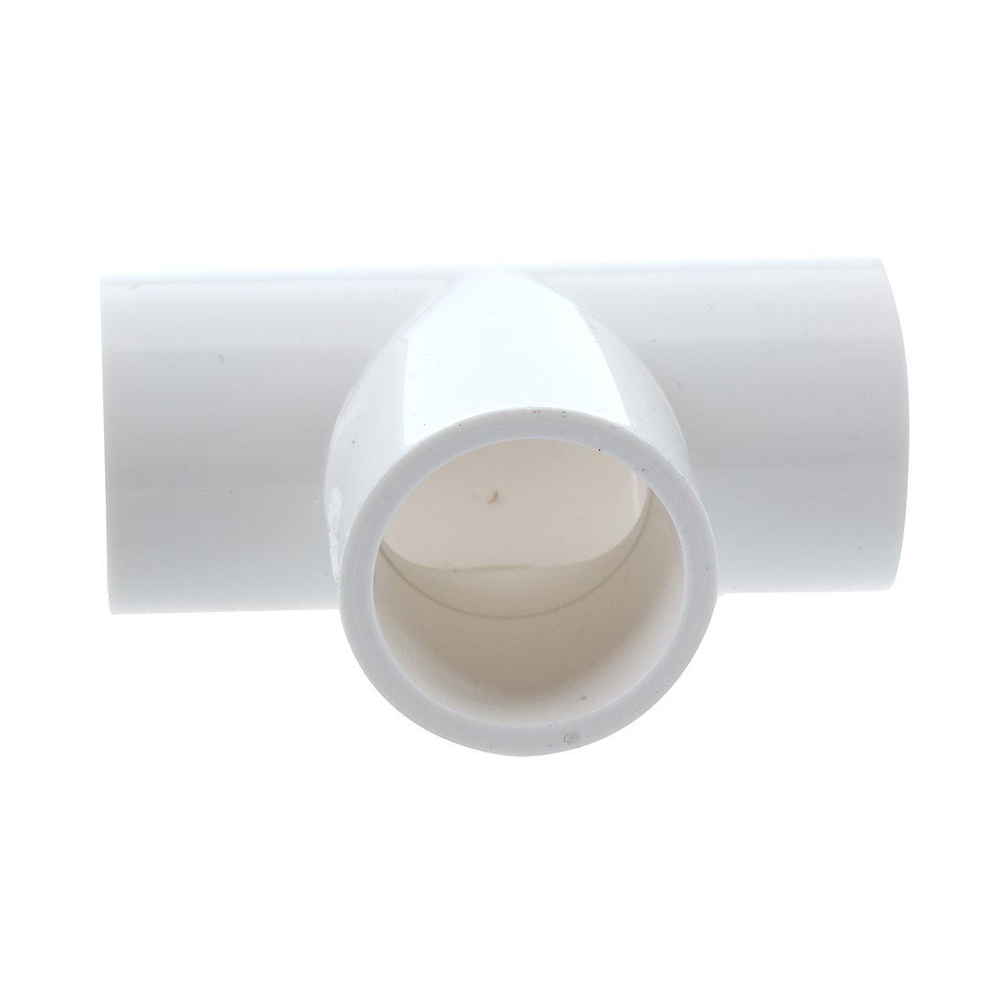 TOOGOO R 5 Raccods adapteur de tee blanc de 20 mm pour les tuyaux en PVC